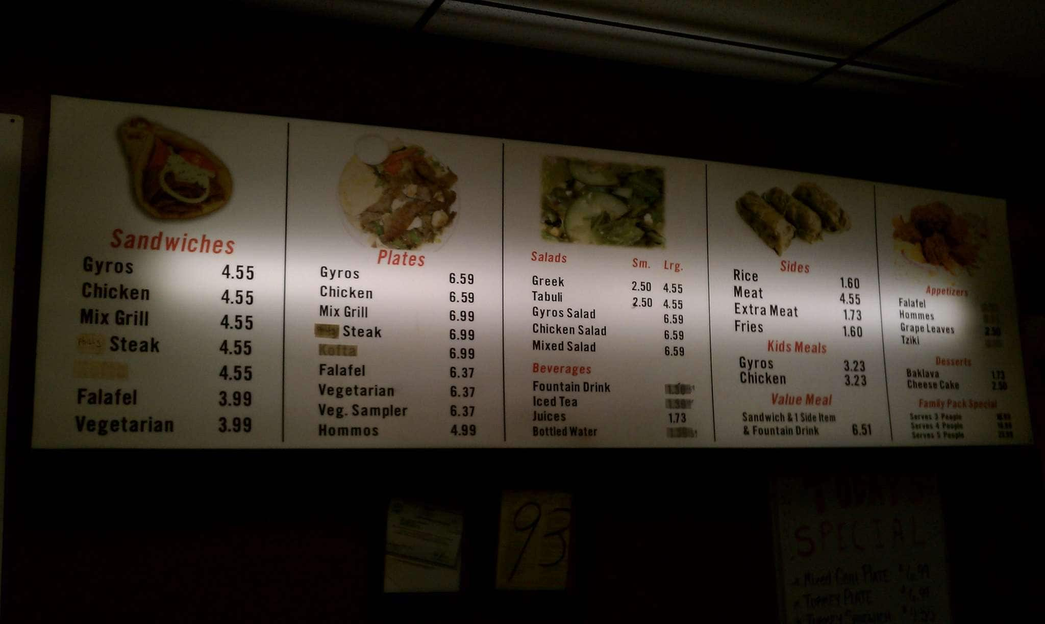Opah Greek Grill Menu, Menu for Opah Greek Grill, Murfreesboro ...