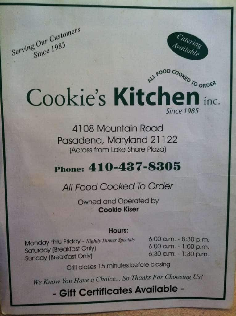 Cookie\'s Kitchen Menu, Menu for Cookie\'s Kitchen, Pasadena ...