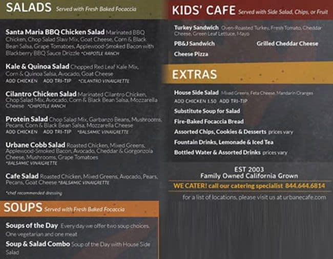 Bean Leaf Cafe Menu