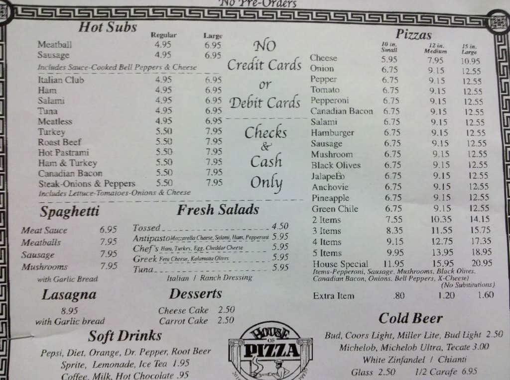 awesome Paso Pizza Kitchen Menu #1: zitzat.com