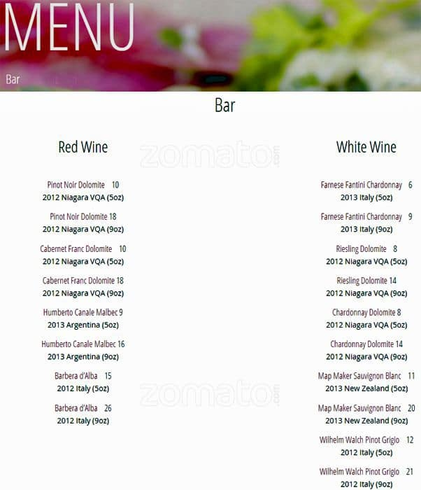 9 Tapas Menu, Menu for 9 Tapas, Roncesvalles Village, Toronto - Urbanspoon/Zomato