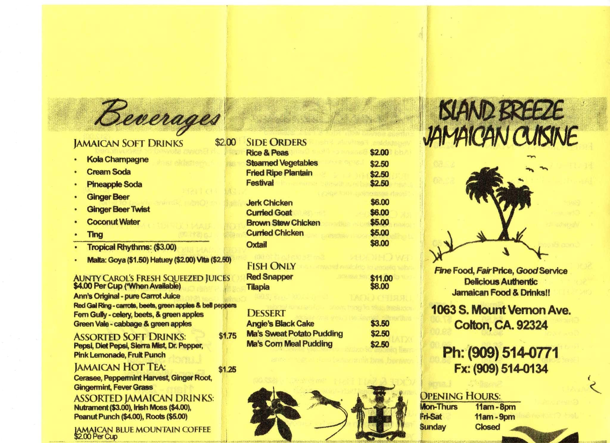 island breeze  jamaican cuisine a inland empire foto del