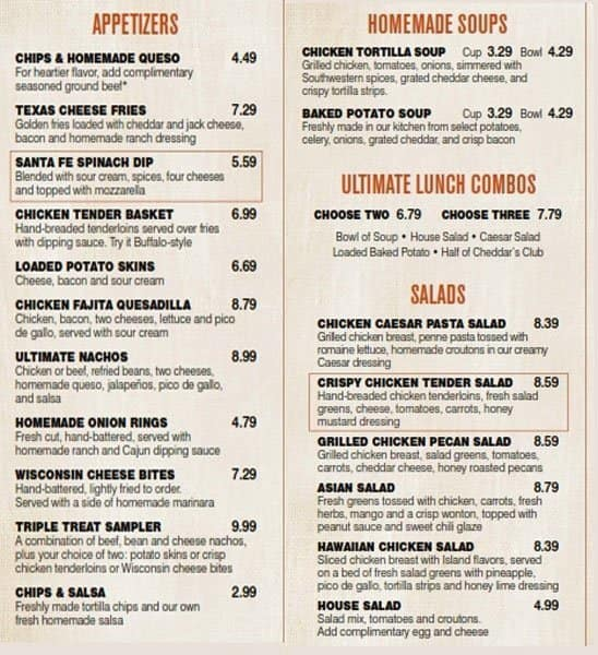 cheddar 39 s scratch kitchen menu urbanspoon zomato