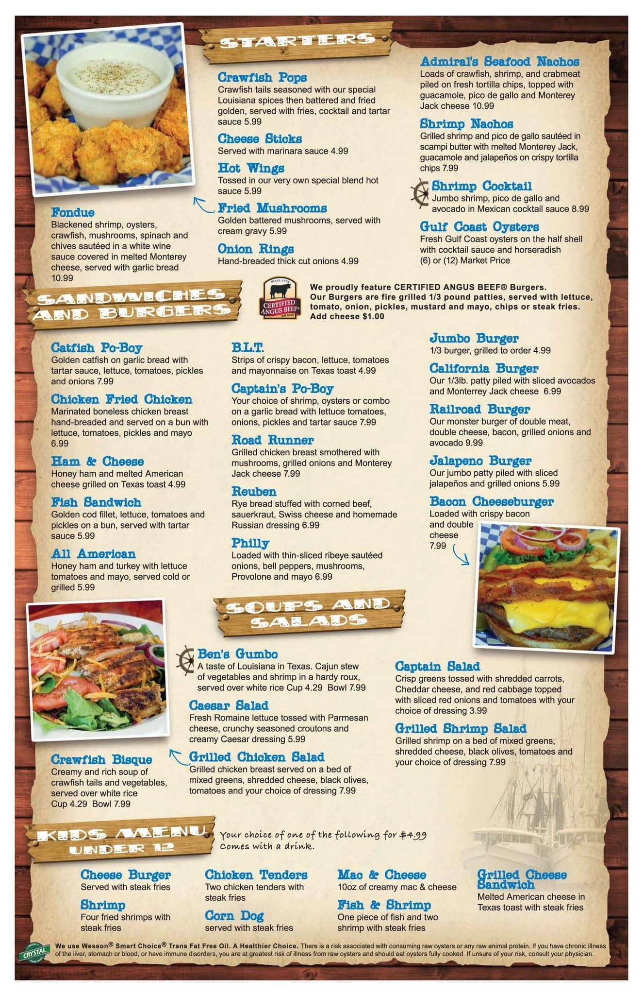 Captain Ben\'s Seafood Shack Menu - Urbanspoon/Zomato