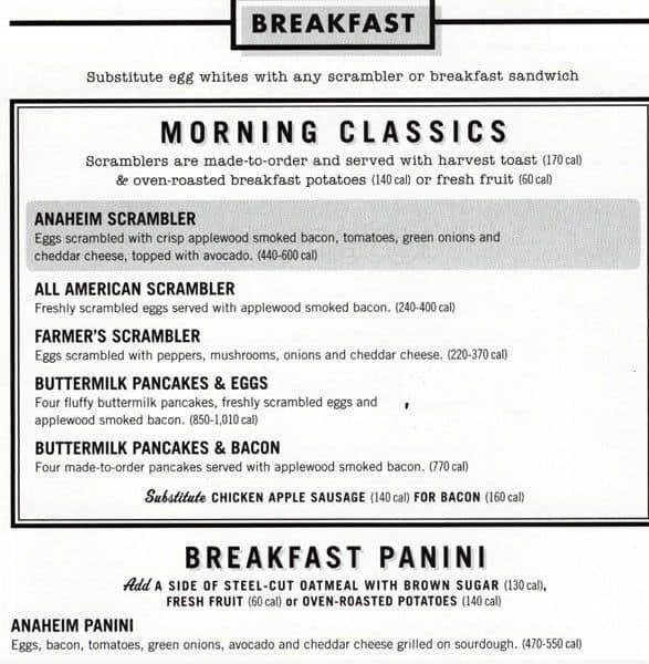 graphic regarding Corner Bakery Printable Menu titled Corner bakery evening meal menu : ssd