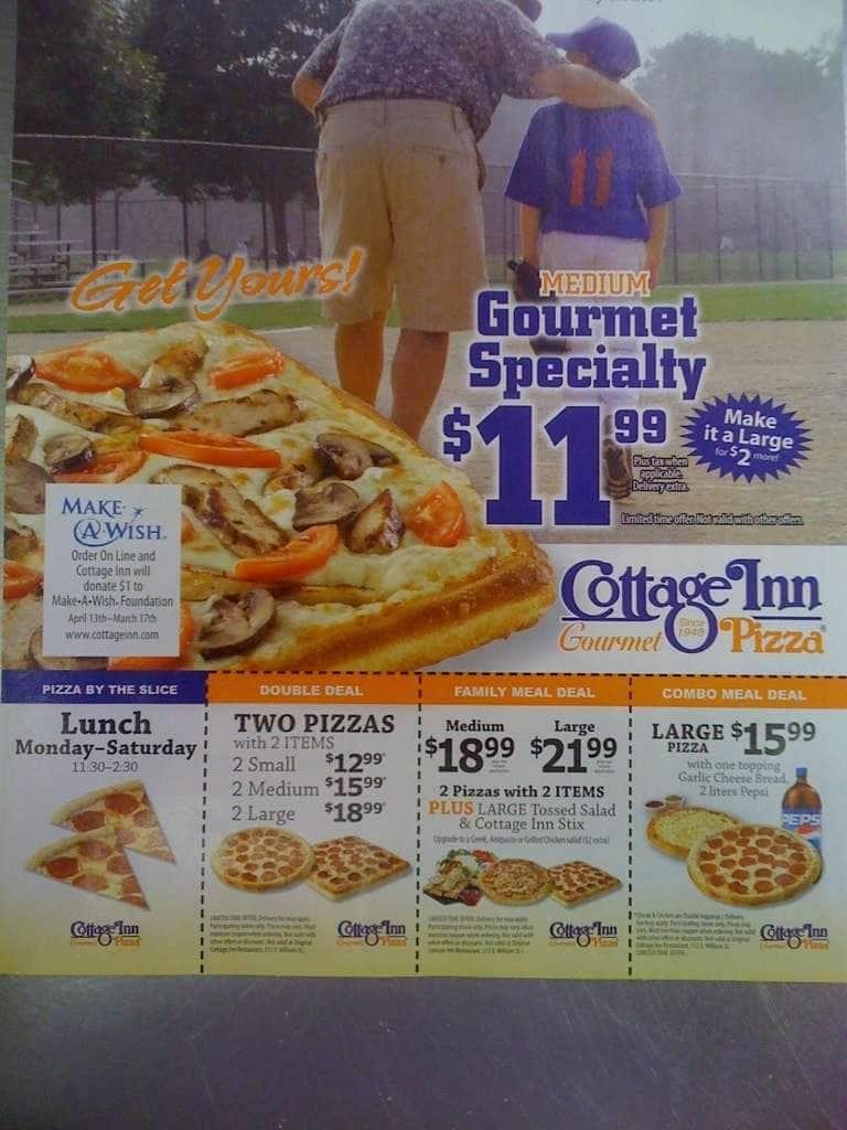 cottage inn pizza menu menu for cottage inn pizza lansing lansing rh zomato com