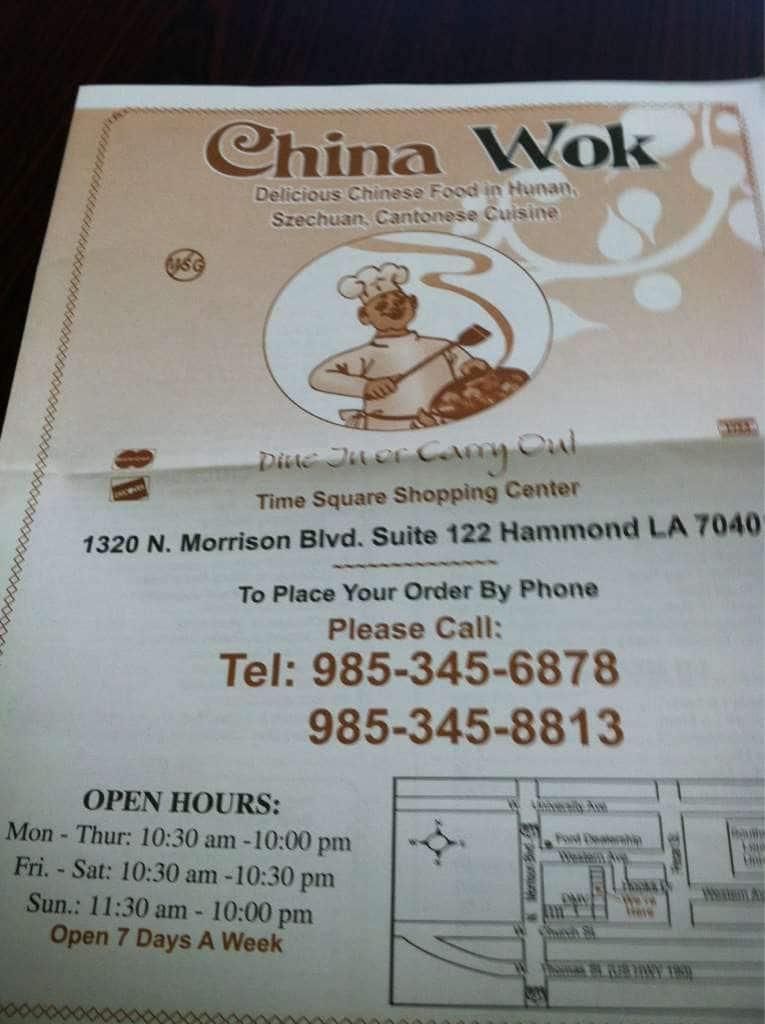 china wok menu menu for china wok hammond hammond