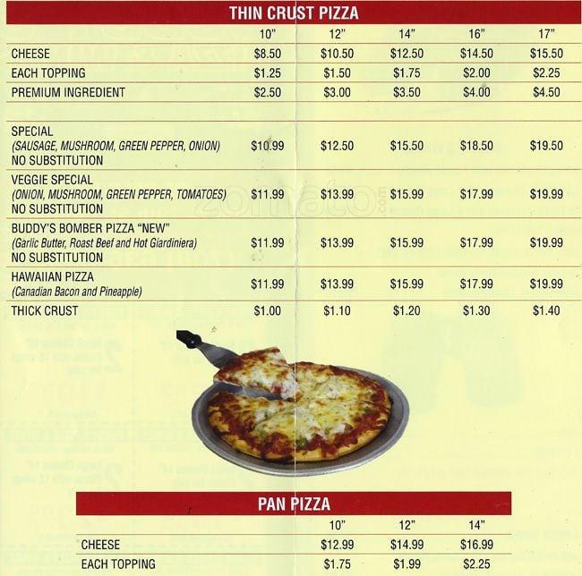 Menu - Blaze Pizza