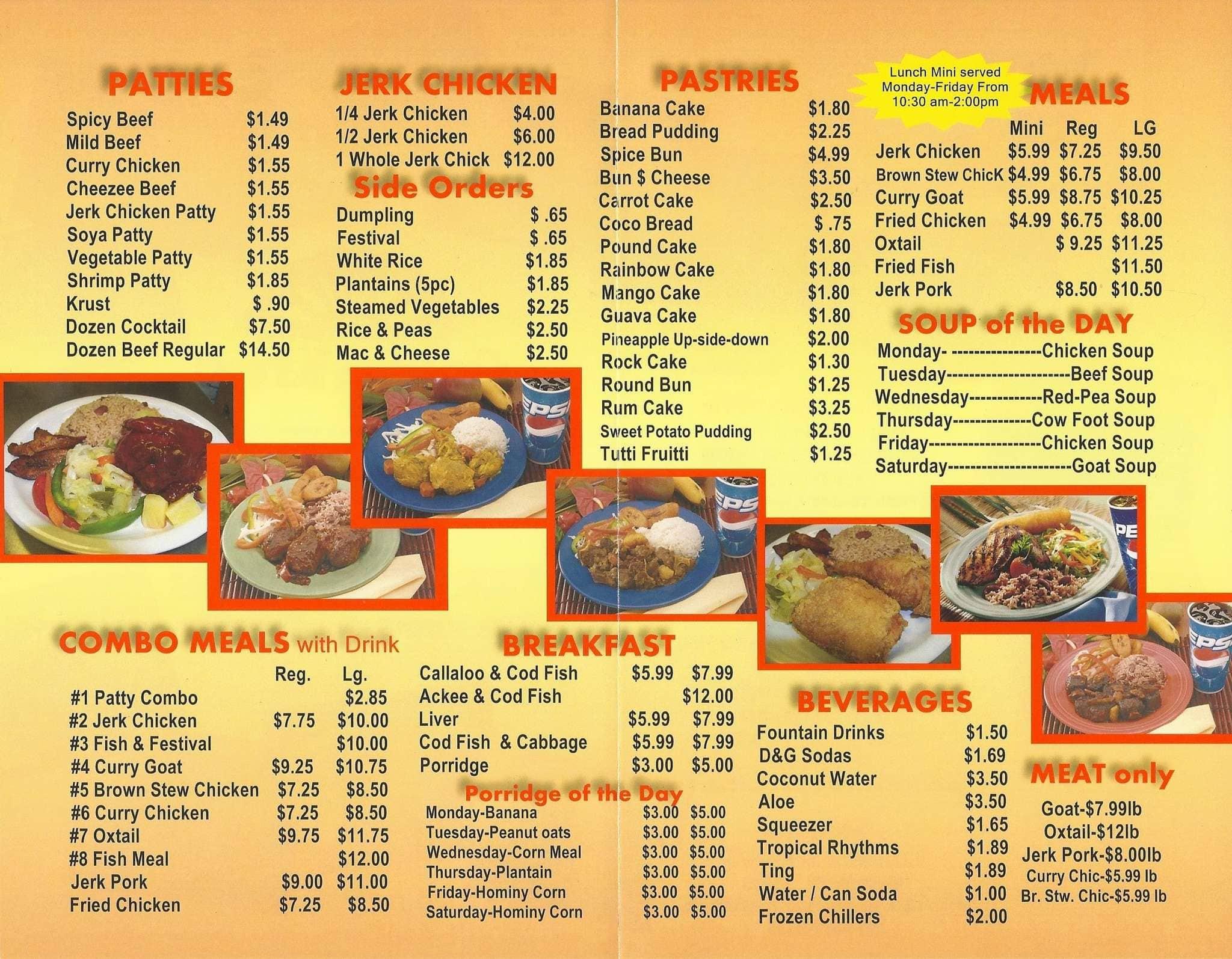 Golden Krust Caribbean Bakery Grill Lauderhill Menu