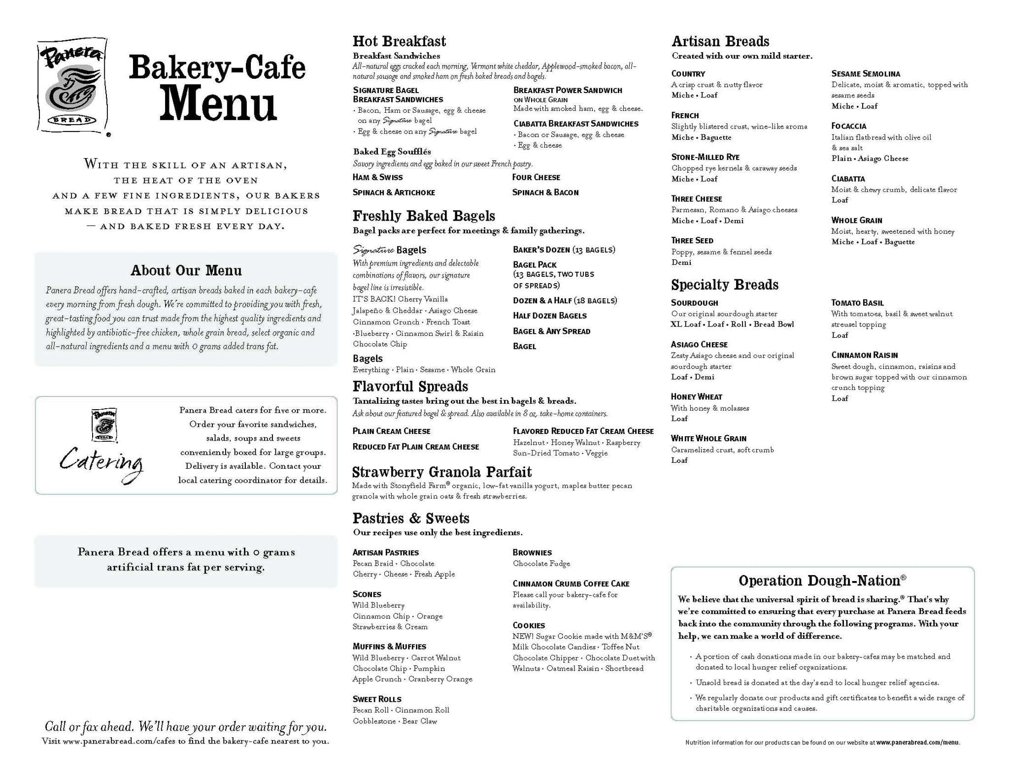 graphic relating to Panera Bread Printable Menu named Panera Deliver Out Menu Billy Knight