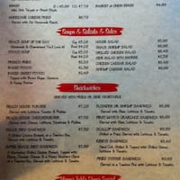 The Shack North Myrtle Beach Menu