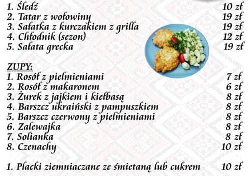Ukraińska Kuchnia Menu Menu Restauracji Ukraińska Kuchnia