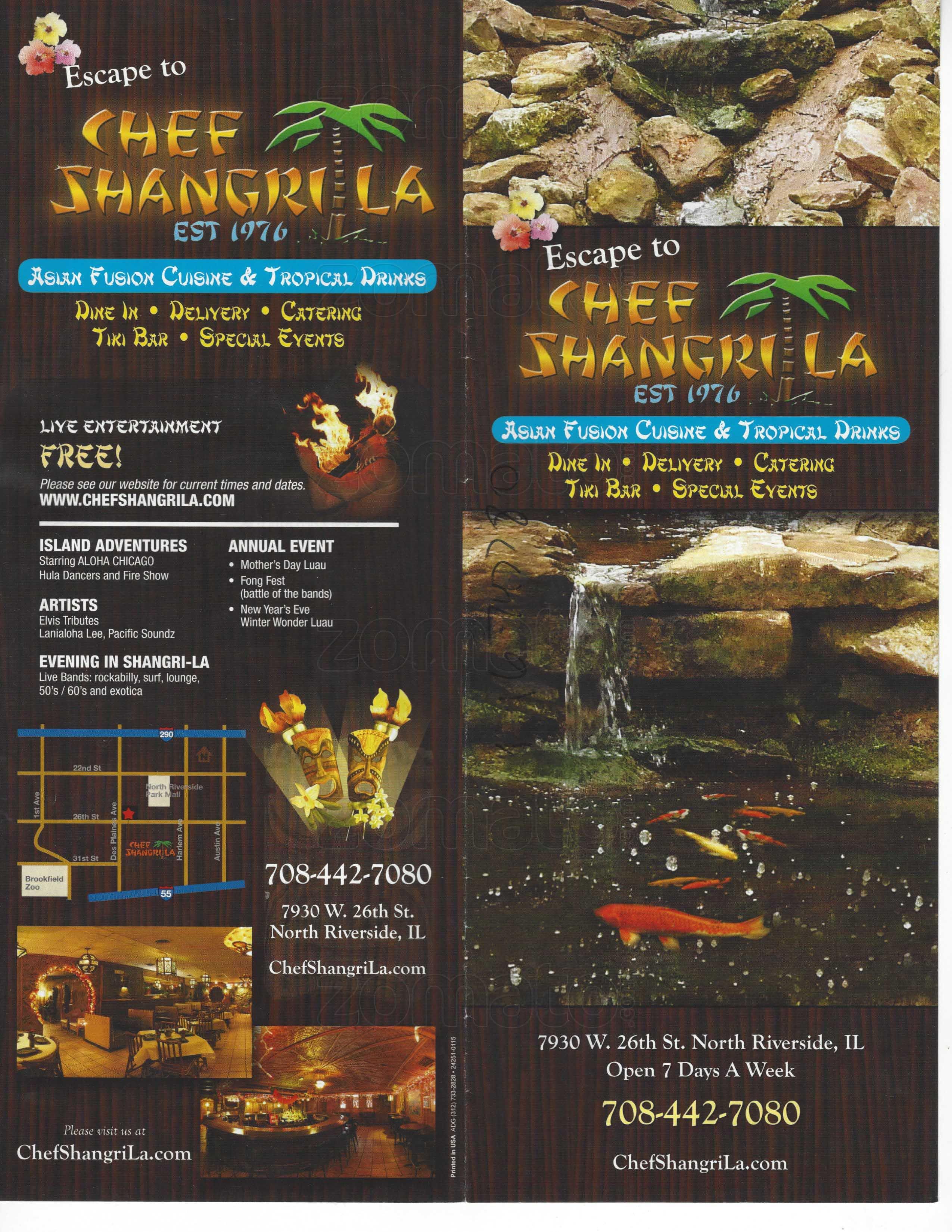 Chef Shangri-La Menu, Menu for Chef Shangri-La, North Riverside ...