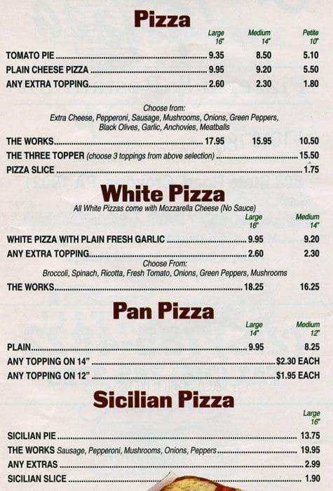 Menu At Croydon Pizza Pizzeria Croydon