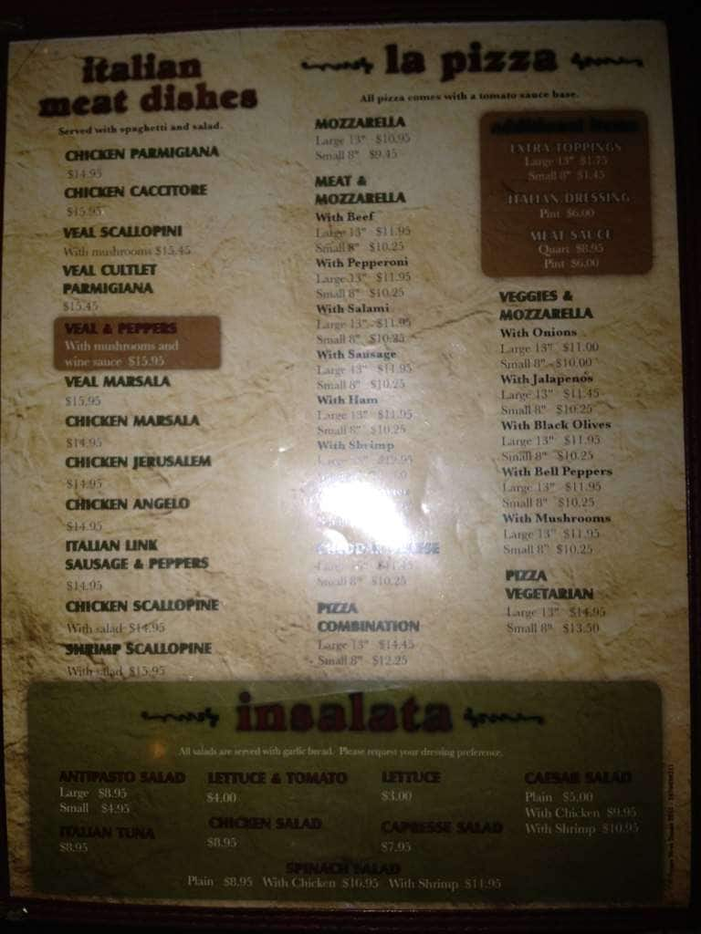 Italian kitchen west menu menu for italian kitchen west for W kitchen verbier menu