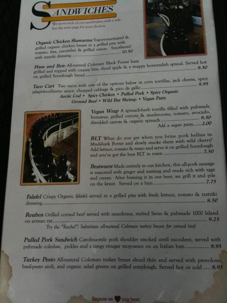 Fish tale brew pub menu menu for fish tale brew pub for Fish tales menu