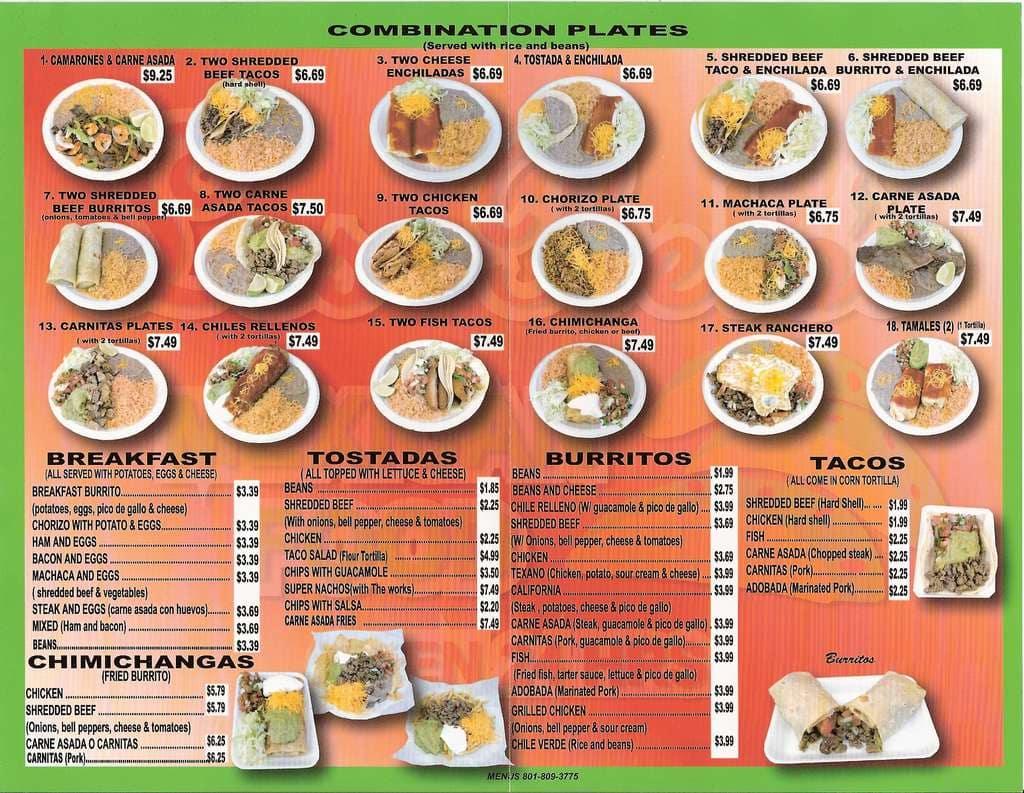 Los Betos Restaurant Menu