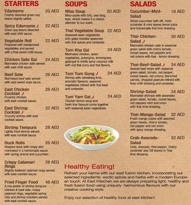 Eastern Chinese Restaurant Menu