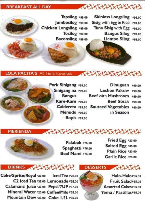 Mangan Restaurant Menu