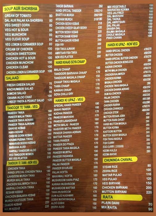 Handi menu menu for handi sarita vihar new delhi zomato handi sarita vihar menu stopboris Image collections
