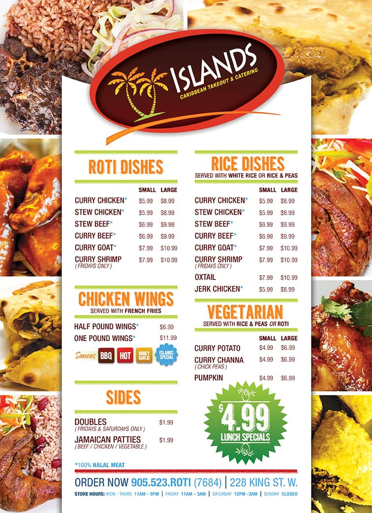 islands caribbean takeout menu urbanspoon zomato