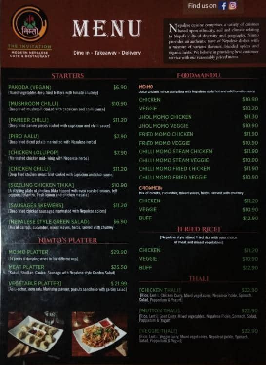 The invitation menu menu for the invitation hurstville sydney the invitation hurstville menu stopboris Image collections