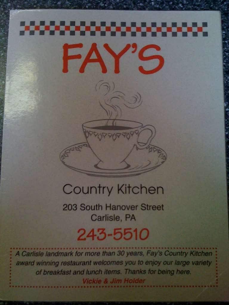 Country Kitchen Restaurant Menu Fay's Country Kitchen Menu  Urbanspoonzomato