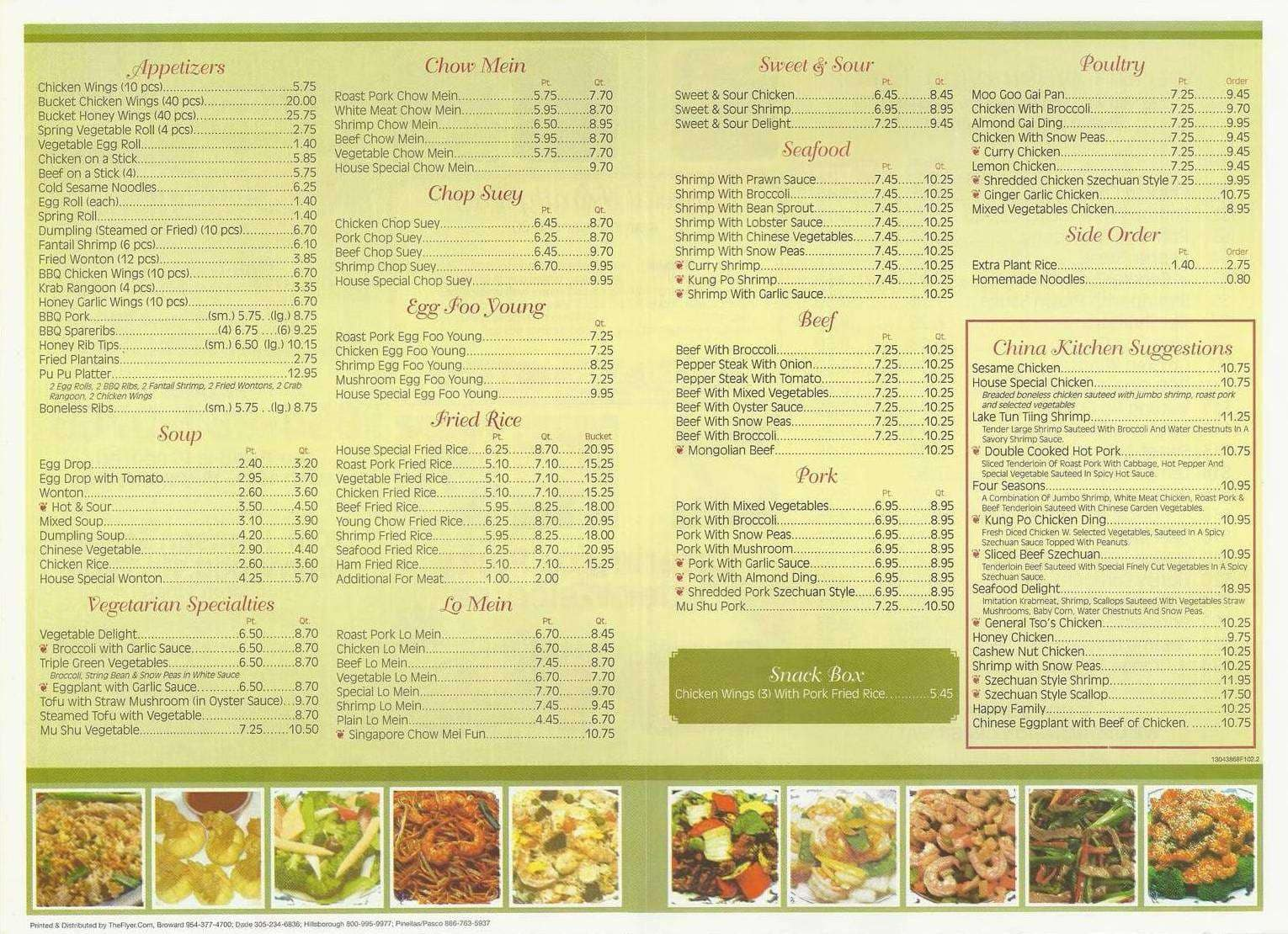 Menu At Kwong Ming China Kitchen Restaurant Hollywood