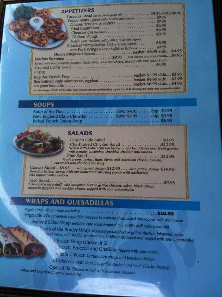 Tr Restaurant Lake George Menu