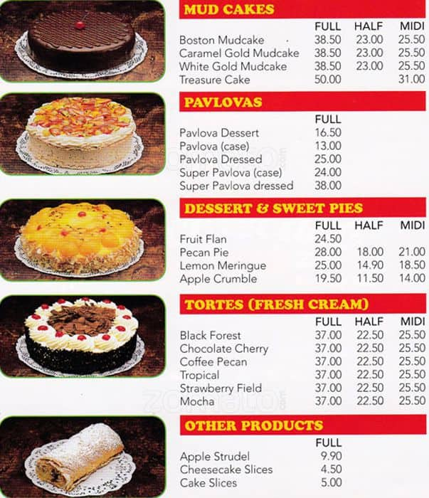 The Cheese Cake Shop Menu, Menu for The Cheese Cake Shop ...