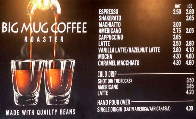 The Mug Coffee >> Big Mug Coffee Roaster Menu Menu Untuk Big Mug Coffee