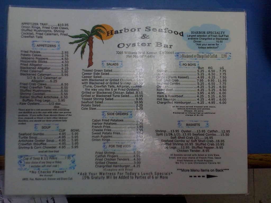 Harbor Seafood Restaurant New Orleans