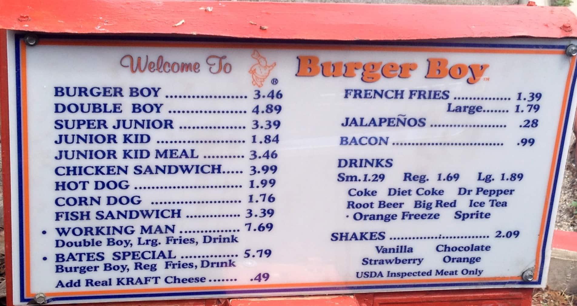 Burger Boy Menu Menu For Burger Boy Midtown San Antonio