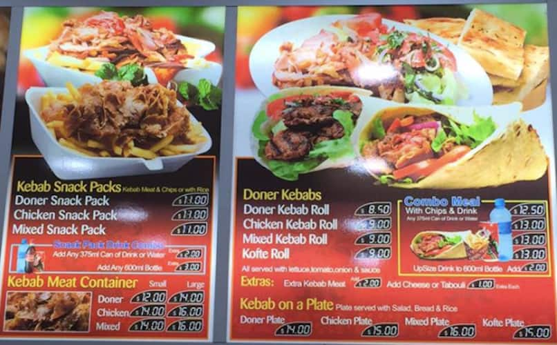Menu At Berala Kebab House Restaurant Berala