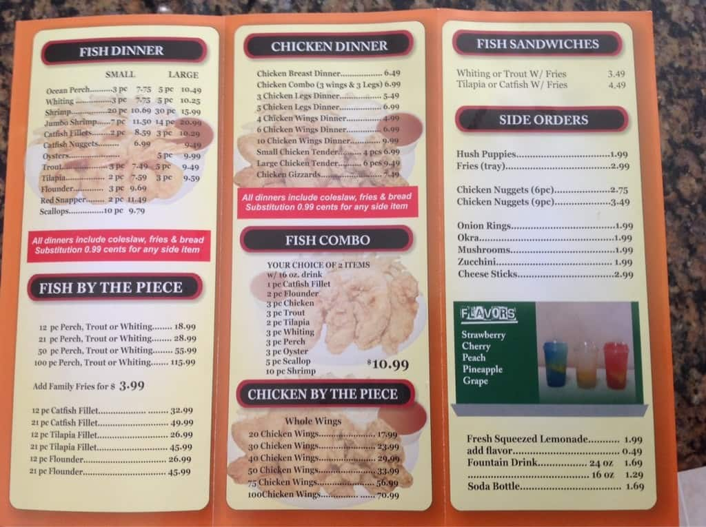Fish chicken n more menu menu for fish chicken n more for Fishers chicken and fish