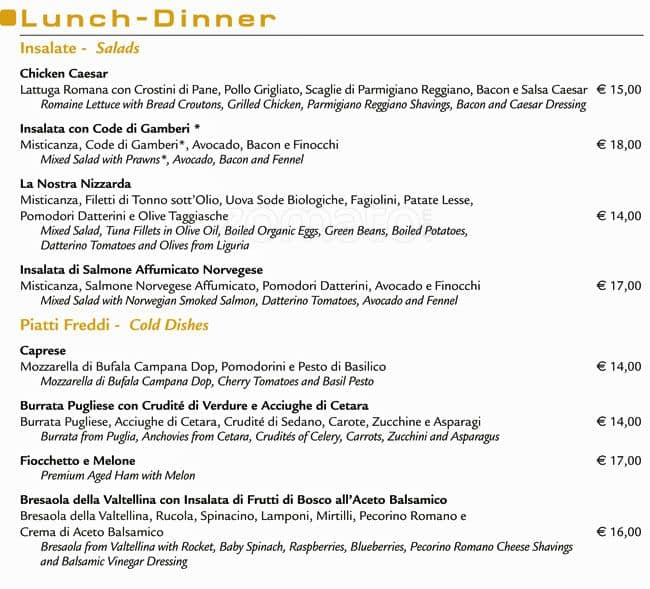 Il Bar Menu Menu For Il Bar Duomo Milano Zomato Italy
