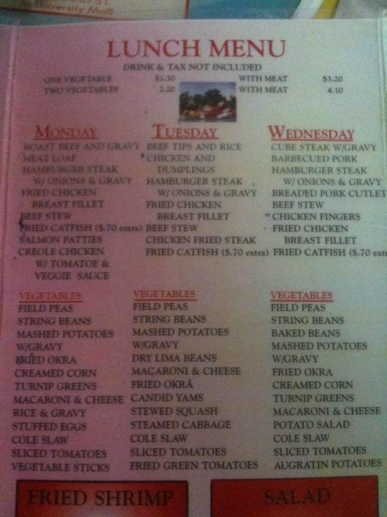 City Cafe Menu In Northport Al