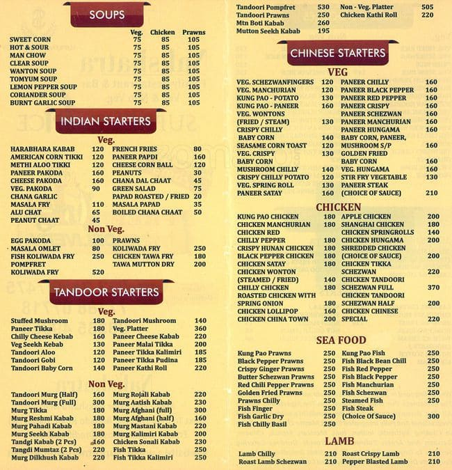 Fish supreme menu for Fish express menu