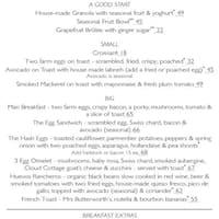 Clarkes Bar Dining Room Menu 5 Pages Food