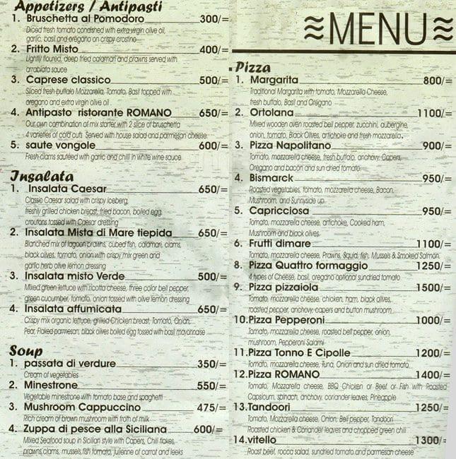 romano italian kitchen menu menu for romano italian