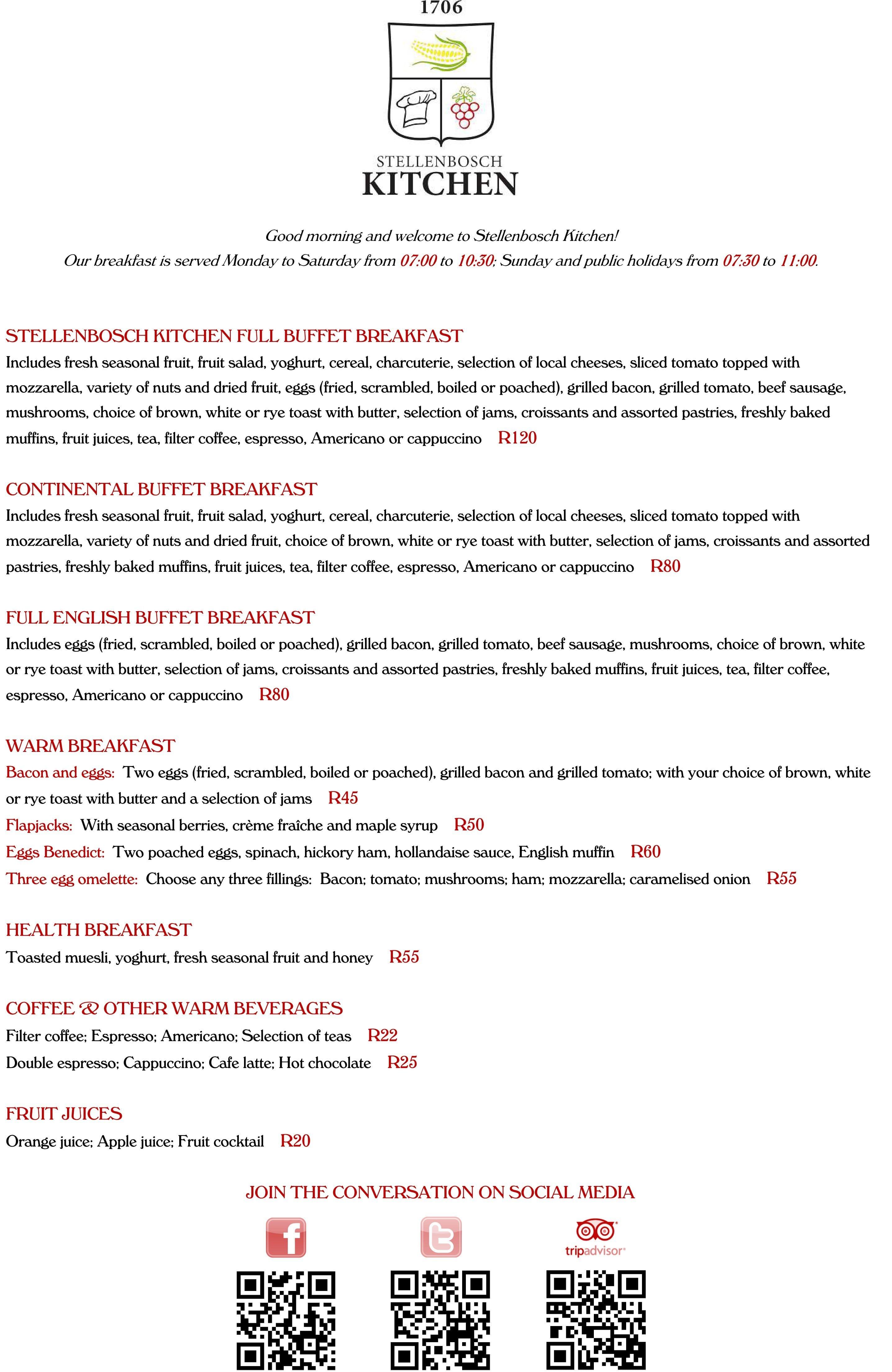 stellenbosch kitchen menu menu for stellenbosch kitchen