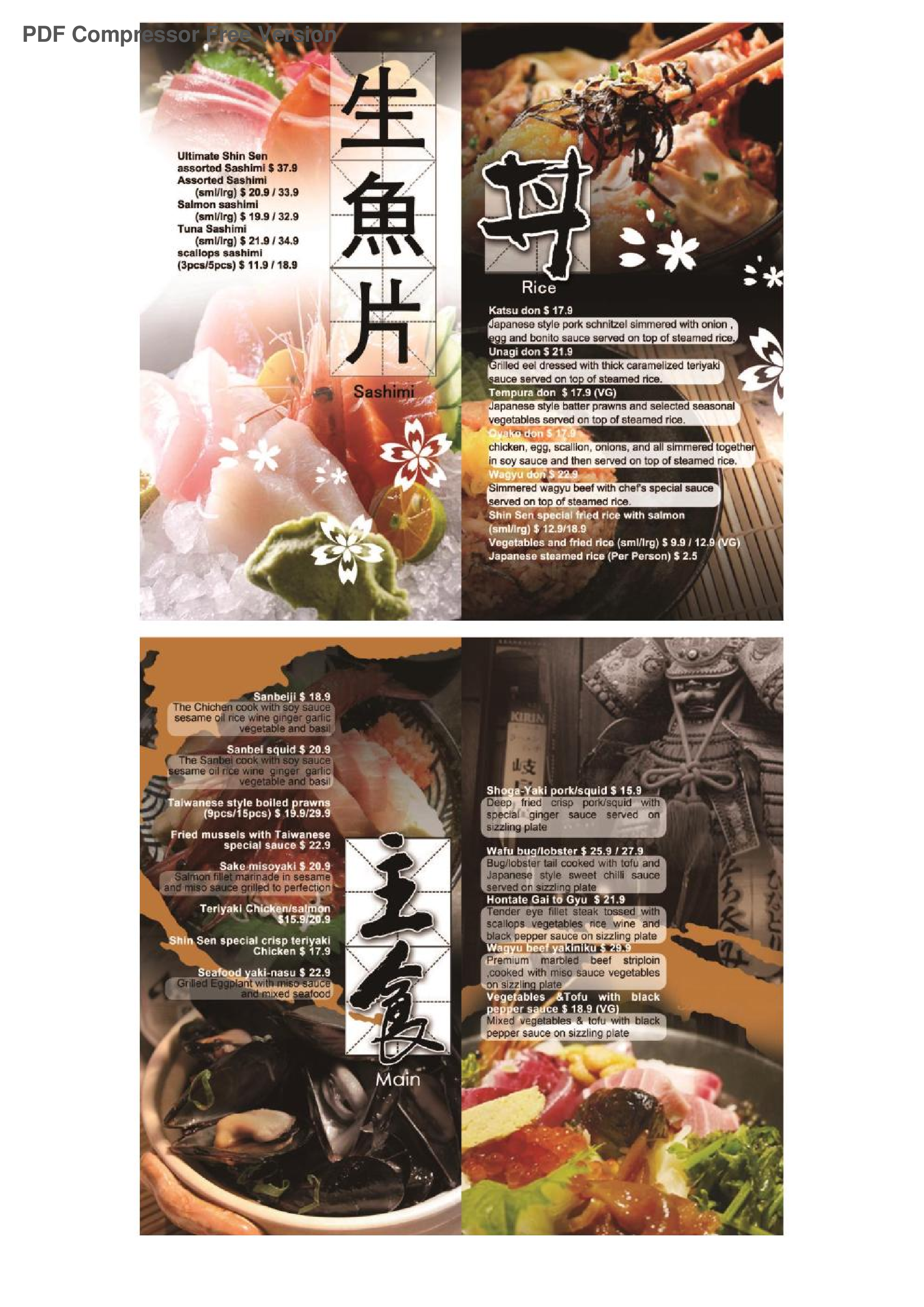 The Restaurant Information Including Shin Sen Teppanyaki Menu Items And Prices May Have Been Modified Since Last Website Update