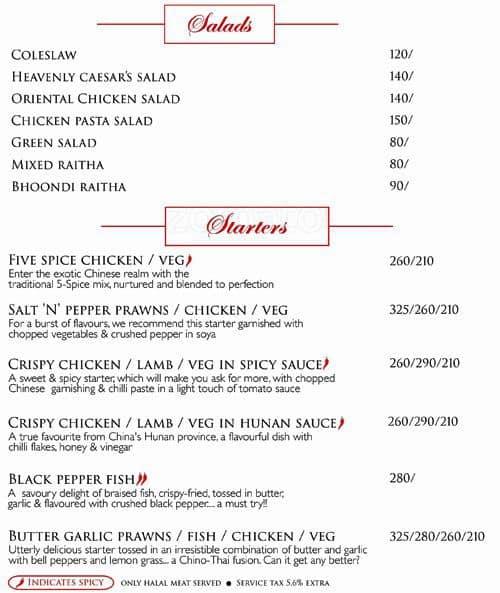 wok & grill menu, menu for wok & grill, vyttila, kochi - zomato