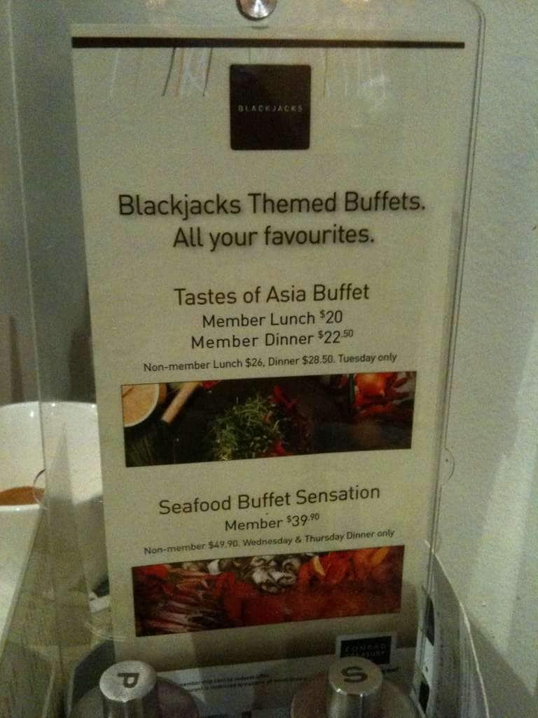 Blackjacks casino buffet restaurant brisbane fun casino tables hire