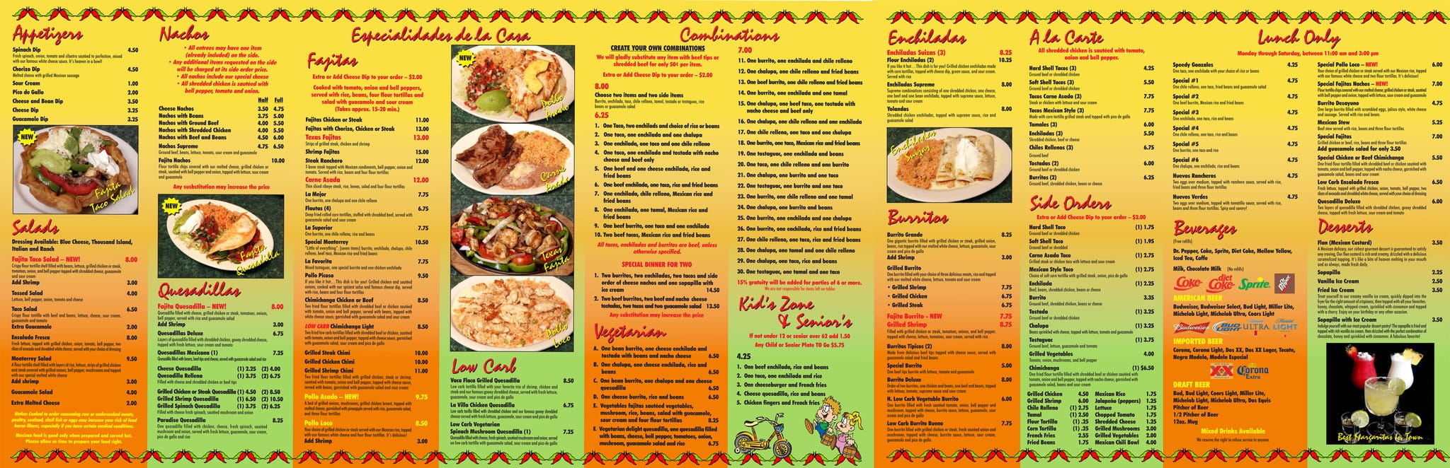 Mexican food menu in spanish and english food monterrey mexican restaurant menu urbanspoon zomato forumfinder Gallery