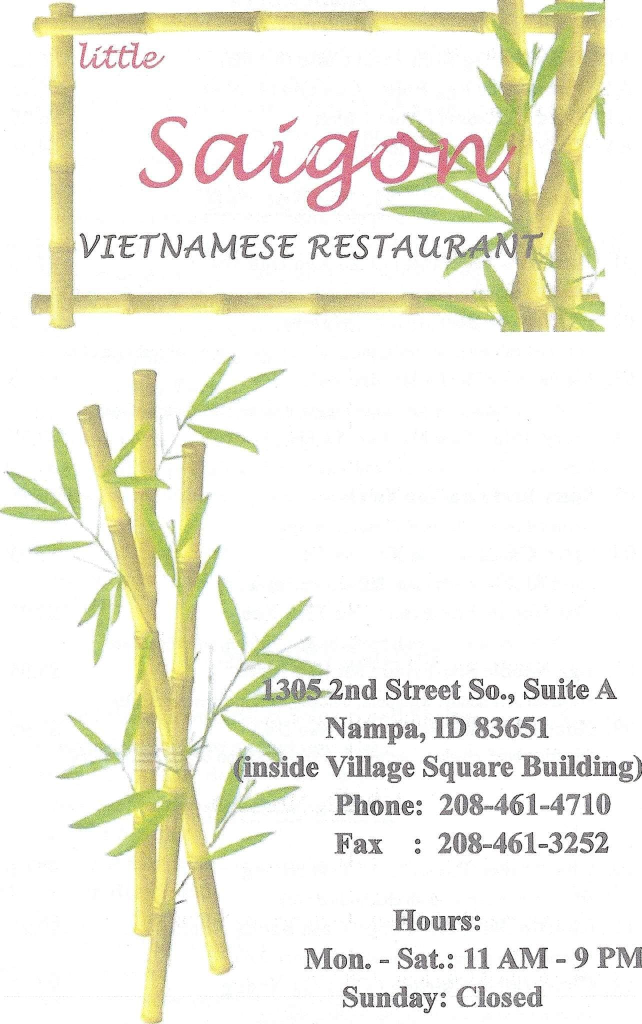Little Saigon Vietnamese Restaurant Menu Urbanspoon Zomato