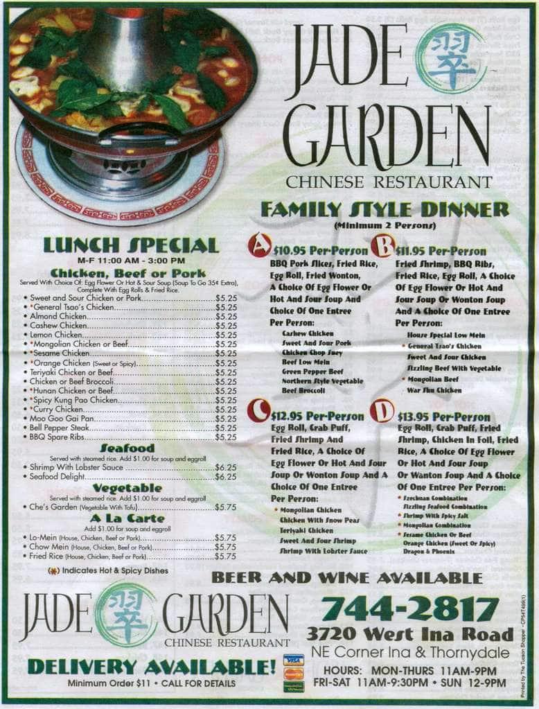 Jade Garden Menu Menu Untuk Jade Garden Marana Tucson