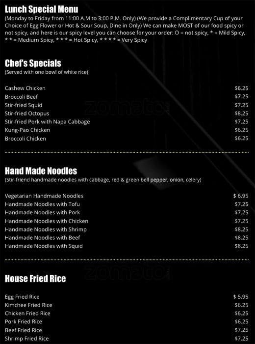 Frank S Noodle House Menu Urbanspoon Zomato