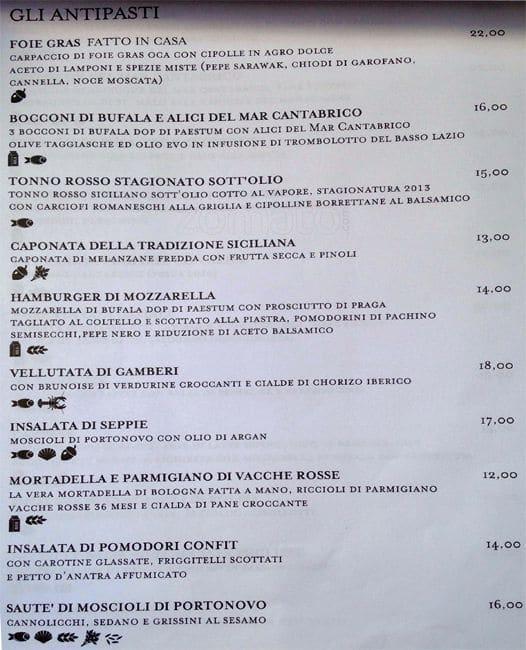 Roscioli Menu Menu For Roscioli Campo De Fiori Roma