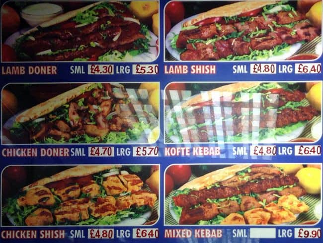 Global Kebab Menu Menu For Global Kebab Hendon London